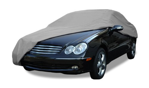 - Budge Rain Barrier Car Cover Fits Sedans up to 228 inches, Waterproof RB-4 - (Polypropylene with Waterproof Film, Gray)