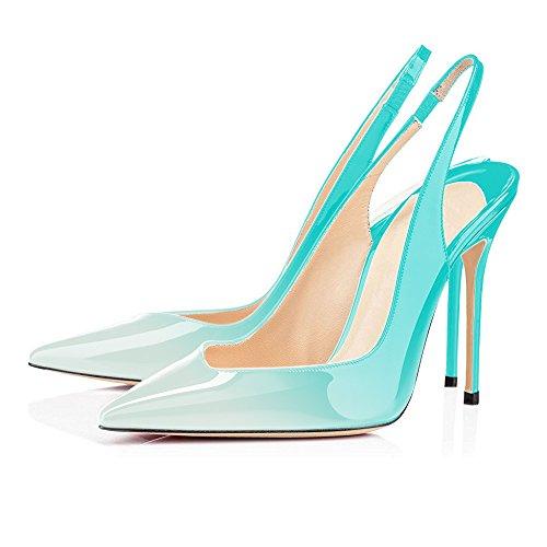 Talons Clair avec Aiguille uBeauty Chaussures Femmes Stilettos Vert Taille Femme Escarpins Haute 12CM Chaussures Talon Grande nR1vR7Zq