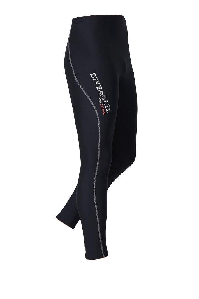 DIVE & SAIL Men's Wetsuit Pants 1.5mm Neoprene Diving Snorkeling Scuba Surf Canoe Pants, Grey Trim, Small