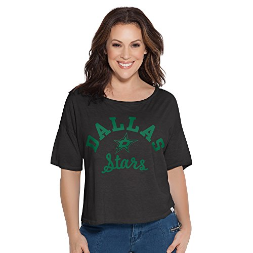 NHL Dallas Stars Adult Women Touch S Base Reversible Tee,Large,Black -