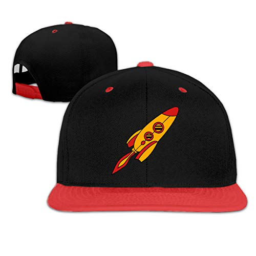 (Kocvbng I Red Yellow Rocket Spaceship Boys and Girl Hip Hop Baseball Caps)