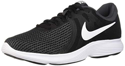 (Nike Men's Revolution 4 Running Shoe, Black/White-Anthracite, 10.5 Regular)