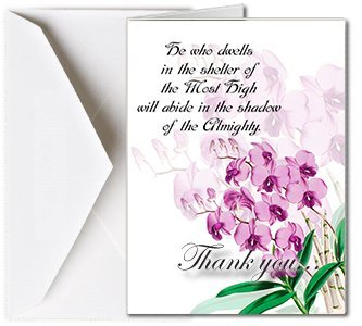 Amazon.com : Funeral Memorial Service Thank You Cards with Envelopes ...