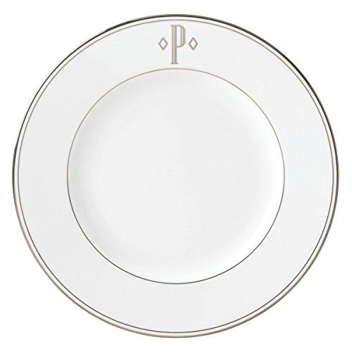 Lenox Federal Platinum Dinner Plate - Lenox Federal Platinum Block Monogram Dinnerware Dinner Plate, P