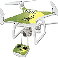 Skin For DJI Phantom 4 Quadcopter Drone – Pilots | MightySkins Protective, Durable, and Unique Vinyl Decal wrap cover | Easy To Apply, Remove, and Change Styles | Made in the USA