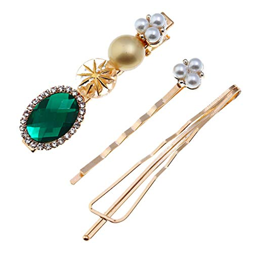 - Cathy Clara Fashion Accessories Trendy Sweet Romantic Pearl Button Sen Retro Multicolor Hairpin Girl Jewelry for Women Girls