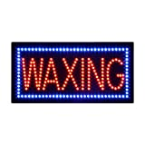 LED Waxing Open Light Sign Super Bright Electric Advertising Display Board for Nails Spa Facial Massage Message Business Shop Store Window Bedroom 19 x 10 inches