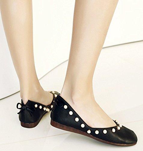 Slip Loafers New Women's Black Square On Aisun Toe xEwq5ZOYY6