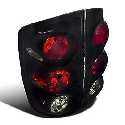 Spec-D Tuning LT-RAM02BB-TM Glossy Black Dodge Ram 1500 2500 3500 Smoked Altezza Tail Brake Lights