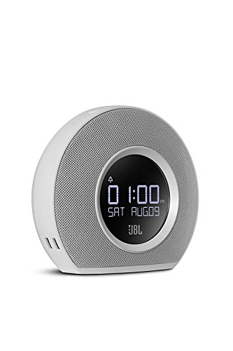 JBL Horizon Bluetooth Clock Radio with USB Charging and Ambient Light (White) by JBL