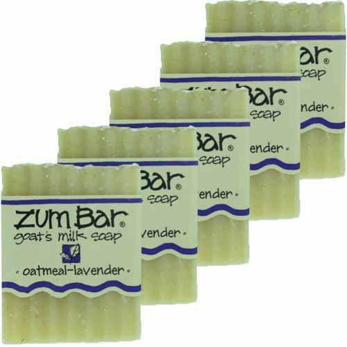 - Indigo Wild: Zum Bar Goat's Milk Soap, Oatmeal & Lavender 3 oz (5 pack)