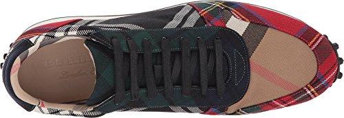 BURBERRY Herren Travis Tartan Sneaker Schwarz / Hellrot 1