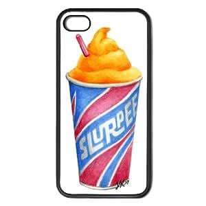 Orange Slurpee Apple iPhone 5 & 5S Black Rubber Grip Case Original Food Art