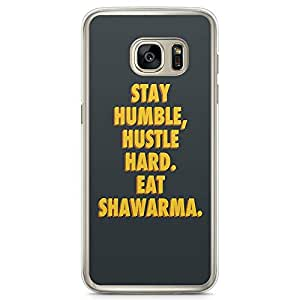 Samsung Galaxy S7 Transparent Edge Phone Case Humble Phone Case Shawarma Phone Case Dubai Samsung S7 Cover with Transparent Frame