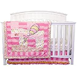 Dr. Seuss Oh, The Places You?ll Go! Pink 9 PC Crib Bedding Set By Trend Lab