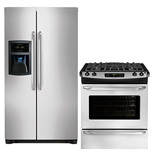 Counter Depth Side (Frigidaire 2-Piece Stainless Steel Kitchen Package with FFSC2323LS 36