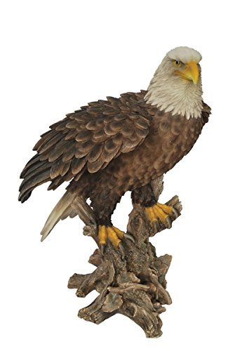 Hi-Line Gift Ltd Bald Eagle on Stump Statue
