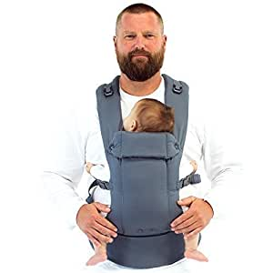 Beco Gemini Baby Carrier Grey - Multi-Position Soft Structured Sling w/ Adjustable Straps & Comfort Padding for Infant/Toddler Hip Support with Pocket