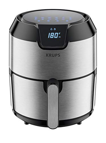 Deluxe Air Grid - KRUPS 1510001480 EY401 4.2L Digital XL Air Fryer, 8 presets, Dishwasher Safe, Removable Basket, Stainless Steel, 4.2 L,