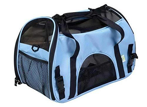 FidgetGear Pet Dog Cat Carry Bag Pouch Patrol Shoulder Strap Trvavel Backpack Carrier Tote bluee M