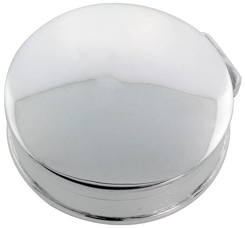 Sterling Silver Pill Box Round Shape, High Polished Finish, 1 1/4 inch