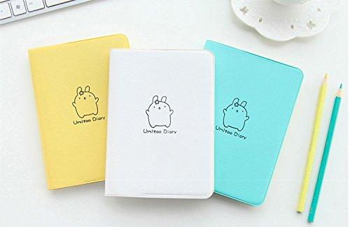 SpringXStore 2018 Cute Rabbit Diary Kawaii Calendar Planner 2018 2019 Program Notebook Notepad Pocket Journal For Gift School Supplies