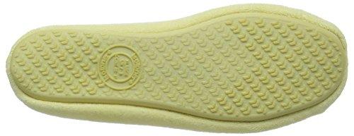 Isotoner Isotoner Terry Ballet Slipper With Spot Bow - Zapatillas de estar por casa Mujer Amarillo - amarillo
