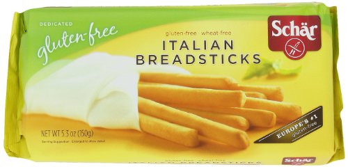 Schar Gluten-Free Italian Breadsticks, 5.3-Ounce Packages (Pack of 5) (Italian Breadsticks)