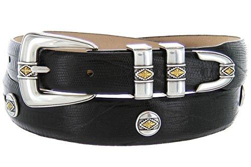 Alligator Genuine Plate - Golden Diamond- Men's Genuine Italian Calfskin Embossed Designer Golf Dress Belt