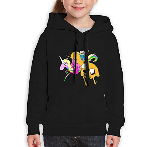 Avis N Youth Hoodie Adventure Time Casual Unisex Hooded Sweatshirtrn Black M