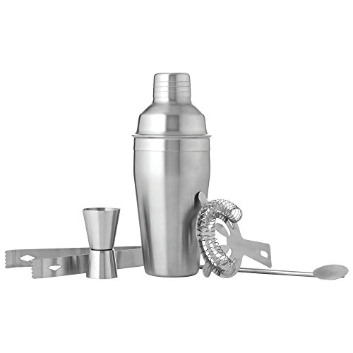 BF Systems KTBARST2 Stainless Steel 5 Piece Cocktail Martini Shaker Set by BF Systems