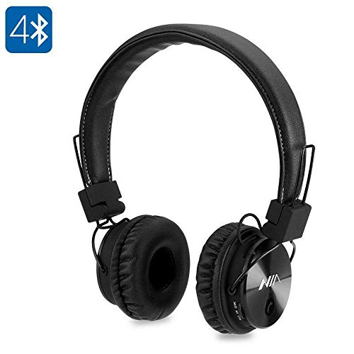 Generic Nia x3 Bluetoothヘッドフォン – 40 mm HDドライバ、FMラジオ、SDカードスロット、ワイヤレスヘッドフォン B071D7F6FC