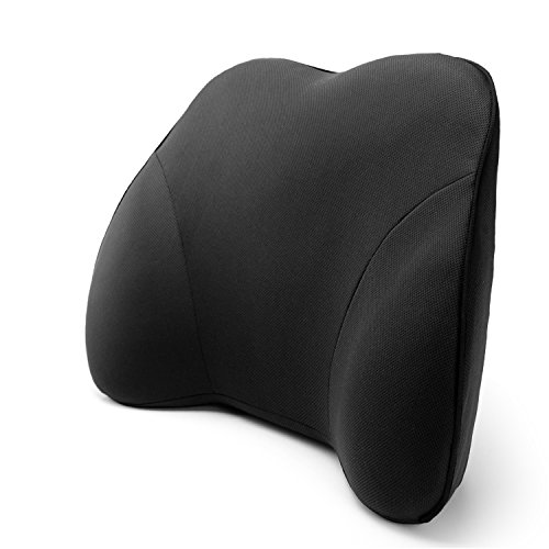 Memory foam lower back lumbar support cushion pillow