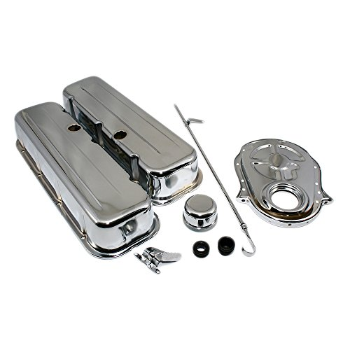 Assault Racing Products A3026 Big Block Chevy Chrome Dress Up Kit Tall Valve Covers BBC 396 402 427 ()