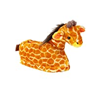Happy Feet 9029-3 - Giraffe - Large Animal Slippers