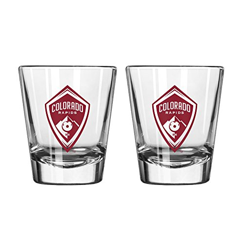 Boelter Brands MLS Colorado Rapids Game Day Shot Glass, 2-Ounce, 2-Pack by Boelter Brands