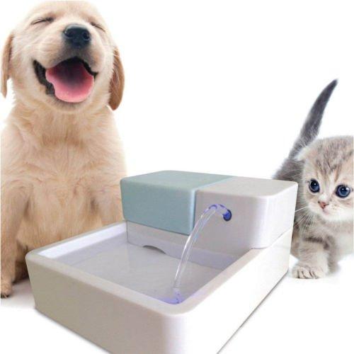 Jian Ya Na Electric Pet Water Fountain Dog Cat 1.8 L Drinking Bowl Kitten Drinker With LED Light, US Plug