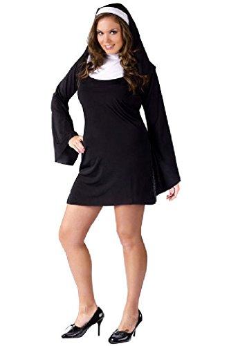 [8eighteen Naughty Nun Plus Size Halloween Costume] (Naughty Nun Halloween Costumes)