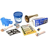 GTMat 50sqft PRO Sound Deadener Adhesive Mat + 1 Gallon Liqui-Damp Liquid Sound Deadener (Spray On/Brush On) + 2 x 30 Finishing Seam Tape Complete Sound Deadening Installation Kit; Includes: One 18 x 33.33 Roll of GTMat ULPRO 50mil, 1 Gallon Liqui-Damp, 1 Roll 2 x 30 Seam Tape, Application Roller, Degreasing Agent, Two Decals, Application Brush for Liquid, Disposable Latex Gloves, Instructions