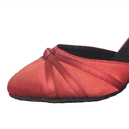 Amarillas Tango Mujer Baile Q de Modernos T Salón Baile Indoor Tacón T Practice Performance Zapatos para Salsa Satén de rojo Latinas Sandalias Rojas de Jazz Swing 5aq8w5RY