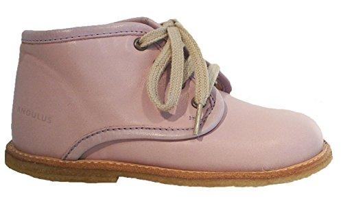 Angulus Leder Sneaker Halbschuhe Schnürer rosa
