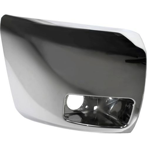 MAPM - Passenger Side Front Chrome Plastic Face Bar Cap With Fog Lamps Bumper End For Silverado 1500 07-13 - 20985758 - GM1005156