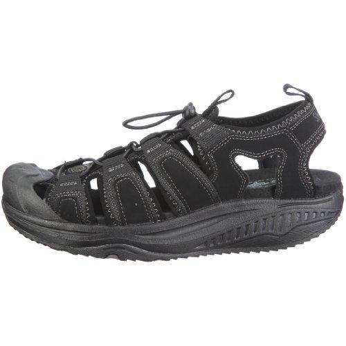 d585e4c25f5ab0 Skechers Men s Shape-ups Unwind Sandal Black UK 10  Amazon.co.uk  Shoes    Bags