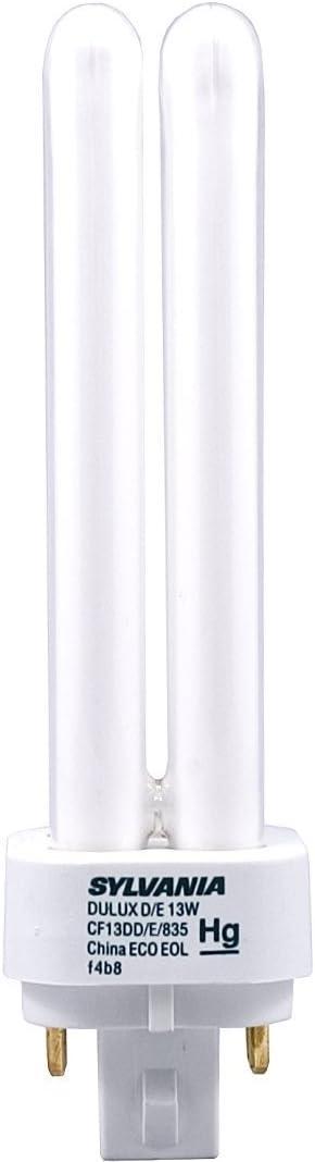 (25 Pack) Sylvania 20671 CF13DD/E/835/ECO 13-Watt 3500K 4-Pin Double Tube Compact Fluorescent Lamp 41UMgoGcQRLSL1074_