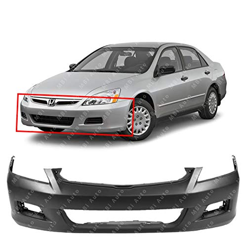 MBI AUTO - Primered, Front Bumper Cover for 2006 2007 Honda Accord Sedan, -