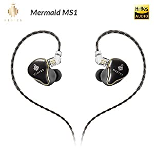 HIDIZS MS1 in-Ear Monitor Headphones, Hi Res Headphones Wired Audiophile, Dynamic Diaphragm Hi-Fi IEM Earphones with…