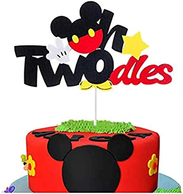Two Cute Cake Topper Two Cake Topper 2nd Birthday Cake Topper Glitter Two Cute Sign Second Birthday Party Decorations