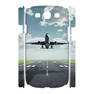 Airplane Takeoff Discount Personalized 3D Cell Phone Case for Samsung Galaxy S3 I9300, Airplane Takeoff Galaxy S3 I9300 3D Cover