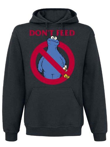 Don 't feed cappuccio Sesame Street Cookie maglione maschio Nero