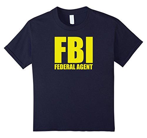 Kids FBI Unisex Shirt - Federal Agent Costume 8 Navy for $<!--$18.99-->
